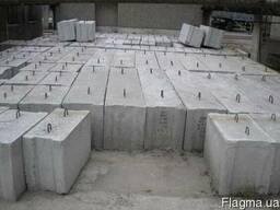 Бетонный фундаментный блок ФБО-4