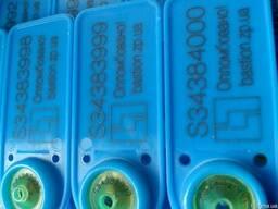 Пломбы пластиковые индикаторные.Синяя-длина 334 мм