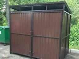 Площадка, ограждения для мусорных контейнеров баков ТБО