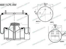 Пневмоподушка (с пласт стаканом) BPW (4881NP02**CPL |. ..