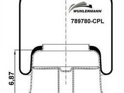 Пневмоподушка (с пласт стаканом) Freightliner W013589780. ..
