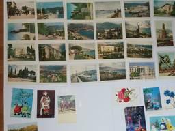 Подборка Советских почтовых открыток 70 штук Период 50х-80х годов.