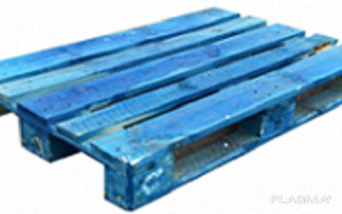 Поддон евро 1200*800 усилен. , цвет-синий