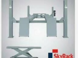 Подъемник четырех стоечный Скай Рак SR-4050 с выемками под п