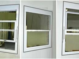 Подъемные окна из холодного алюминия .
