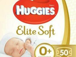 Подгузник Huggies Elite Soft 0+ (до 3, 5 кг) Jumbo 50 шт. ..