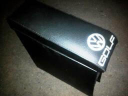 Подлокотник Гольф 2 / Golf 2 с вышивкой цвет черный, графит