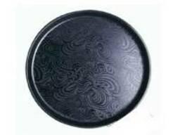 Піднос чорний з малюнком, 31 см, 35 см і 41 см