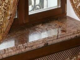 Подоконники из камня Кривой Рог. Мрамор , гранит, травертин