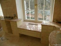 Подоконники из мрамора и гранита плитка мрамор гранит - фото 7
