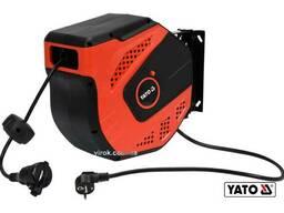 Подовжувач електричний на котушці YATO 20 м 1. 5 мм² 3-жильний