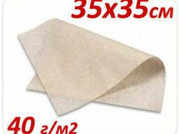 Подпергамент пищевой под пиццу 35х35см 40 г/м2