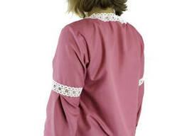 Подростковая стильная вышиванка с розами для девушки в розовом цвете