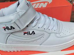Подростковые детские есть кроссовки высокие FILA демисезонные прошитые c 34 по 44 р-р Опт