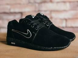 Подростковые кроссовки Nike Черные замш