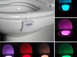Подсветка для унитаза туалета LED с датчиком движения и све
