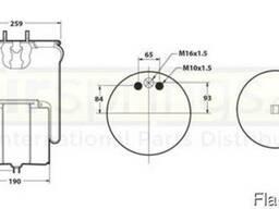 Подушка пневморессора з стаканом Вольво Volvo FH FM 3173271