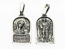 Подвес образок Казанская Икона Божией Матери Архангел Михаил