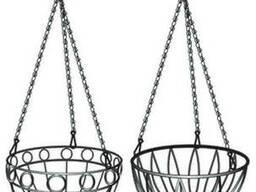 Подвесное кашпо Palisad диаметр 26 см, высота с цепью и крюком 53,5 см