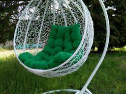 Подвесное кресло - качалка Gardens белый/зеленый 107х79. ..