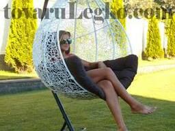 Подвесное кресло шар (белое)