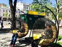 Подвесное кресло кокон Fiesta шоколад