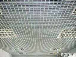 Подвесной потолок Грильято ячейкой 50х50х40 белый 9003