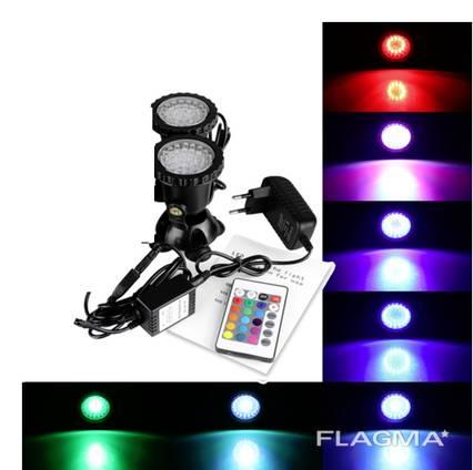 Подводный мультицветной прожектор светильник RGB 72 Led