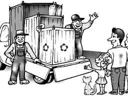 Погрузка и разгрузка фур, вагонов, квартирные и офисные переезды.