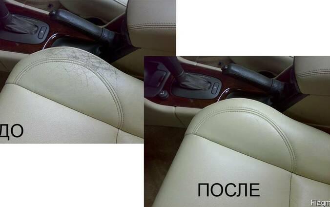 Покрасить кожаное сиденье в авто.