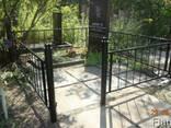Покраска ограды и памятника на кладбищах в Днепре - фото 3