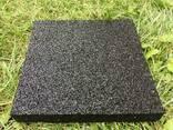Резиновые полы, плитка 500х500х25 мм. - фото 2