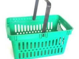 Покупательские корзины на 26 и 22 литра, тележки для корзин.