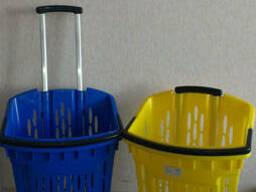 Покупательские корзины для супермаркета с колесами