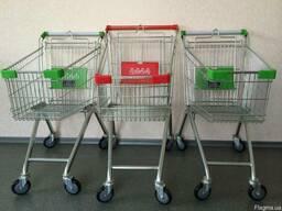 Тележка для магазина 80 литров, тележка для супермаркета