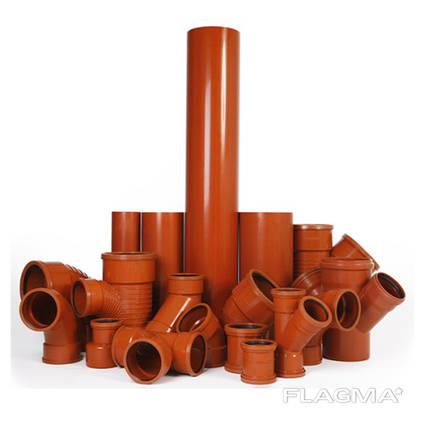 Пластиковые трубы наружной канализации производства Украина
