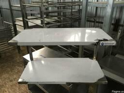 Нейтральное оборудование из нержавейки для кафе столы, полки