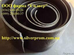 Полоса резиновая черная масло-, бензостойкая