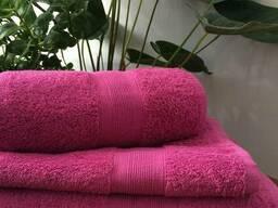 Полотенце банное розового цвета 140*70