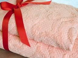 Полотенце махровое Annette Rose, Peach