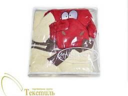 Рушник-накидка дитяча з капюшоном, корівка код 4674-04