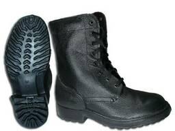 Ботинки комбинированные с мягким кантом, утепленные