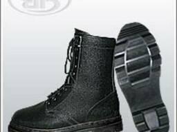 Полу-сапоги юфтевые с завышенными берцами:утепленные,мужские