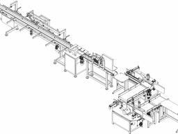 Полуавтоматическая линия для сращивания древесины по длине