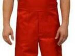 Полукомбинезон рабочий демисезонный красный