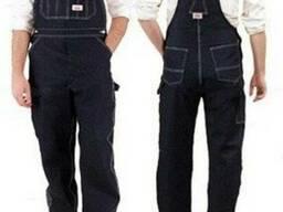 Полукомбинезон рабочий джинсовый