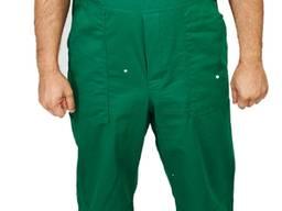 Полукомбинезон с курткой ткань саржа - цвет зеленый