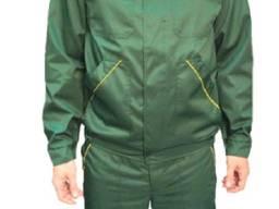 Полукомбинезон с курткой зеленый с желтыми вставками