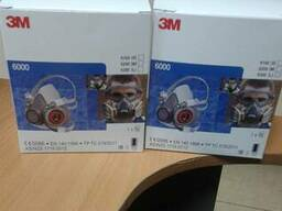 Полумаска 3М серия 6000 защита от от газов, паров, аерозолей