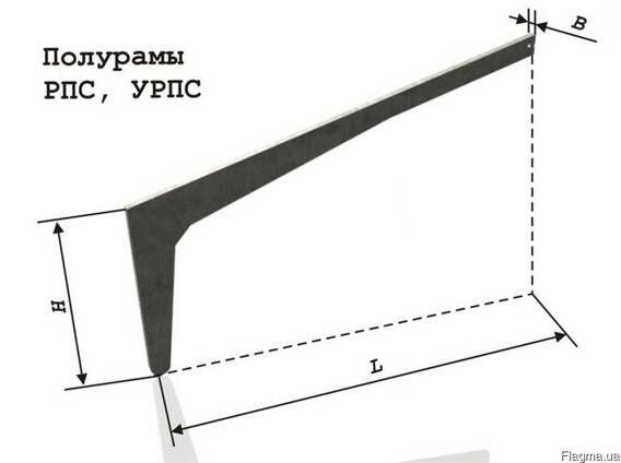 Полурама (клюшка) РПС 18-5 фундамент